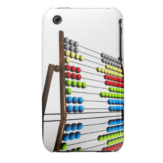 Abacus, computer artwork. iPhone 3 case