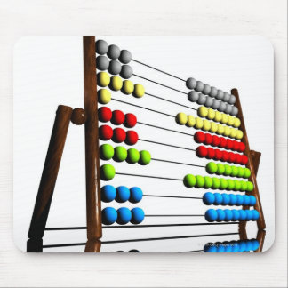 Abacus, computer artwork. mouse pad