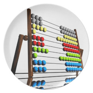 Abacus, computer artwork. plate