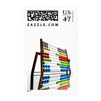 Abacus, computer artwork. postage