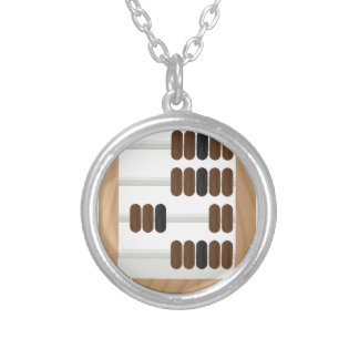 Abacus Silver Plated Necklace