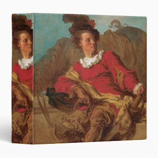 "Abad vestido como español por Fragonard Carpeta 1 1/2"""