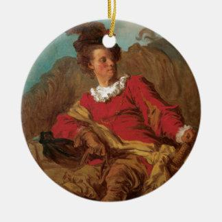 Abad vestido como español por Fragonard Adornos De Navidad