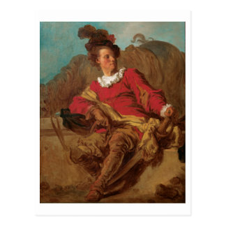 Abad vestido como español por Fragonard Tarjeta Postal