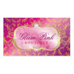 Abadejo rosado divino de oro del disco rosado pród tarjetas de visita