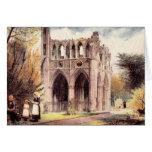 Abadía de Dryburgh de la postal del vintage, Escoc Felicitacion