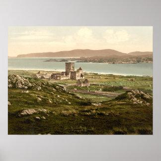 Abadía de Iona, Argyll y Bute, impresión archival  Poster