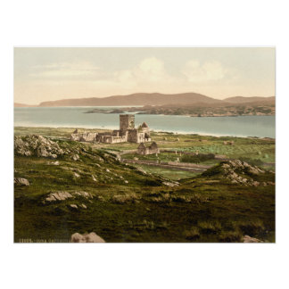 Abadía de Iona, Argyll y Bute, impresión de Escoci Poster