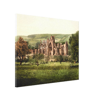 Abadía de la colada fronteras escocesas lona de lona envuelta para galerias
