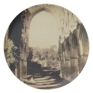 Abadía de Rievaulx, North Yorkshire, 1854 (foto de Plato De Cena