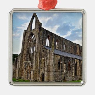 Abadía de Tintern, monasterio cisterciense, País Adorno Navideño Cuadrado De Metal