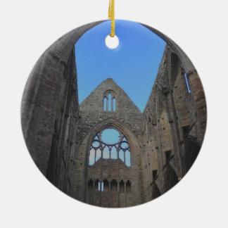 Abadía de Tintern, monasterio cisterciense, País Adorno Navideño Redondo De Cerámica