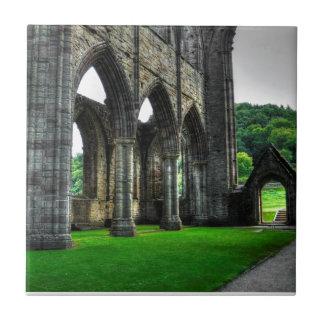 Abadía de Tintern, monasterio cisterciense, País Azulejo Cuadrado Pequeño