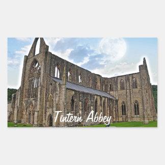 Abadía de Tintern, monasterio cisterciense, País Pegatina Rectangular