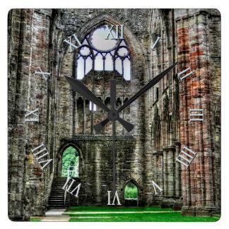 Abadía de Tintern, monasterio cisterciense, País Reloj Cuadrado