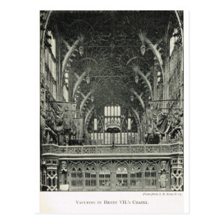 Abadía de Westminster, bóveda, capilla de Henry VI Tarjetas Postales