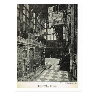 Abadía de Westminster, capilla de Henry VII 1904 Postales