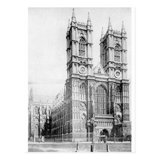 Abadía de Westminster circa 1890 Postal
