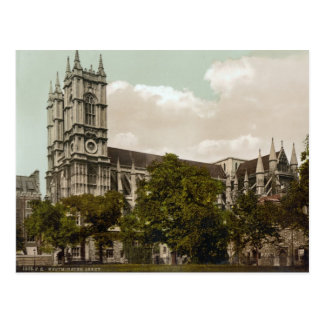 Abadía de Westminster, Londres c.1895 Postal