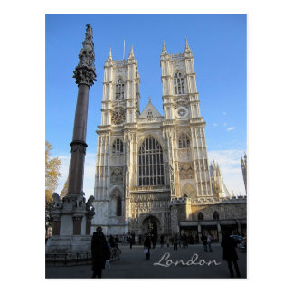 Abadía de Westminster, postal de Londres