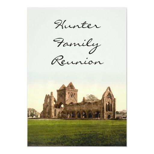"""Abadía del amor, Dumfries, Escocia Invitación 5"""" X 7"""""""