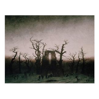 Abadía en la madera de roble, 1810 postal