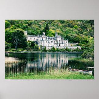 Abadía Irlanda de Kylemore Poster