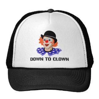 Abajo al chiste divertido del humor del payaso gorras