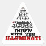 Abajo con los pegatinas de Illuminati