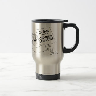 Abajo con risa conservada tazas de café
