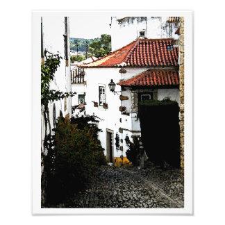 Abajo de la calle en Obidos Portugal Arte Con Fotos