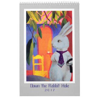 Abajo de la madriguera de conejo - calendario