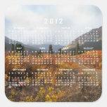 Abajo de la montaña; Calendario 2012 Pegatinas Cuadradases Personalizadas
