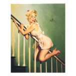 Abajo de las escaleras - chica retro Pin-para arri Impresion Fotografica