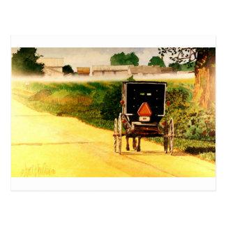Abajo del camino tarjeta postal