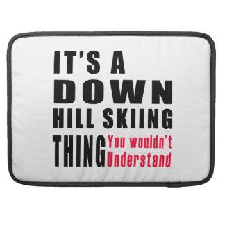 Abajo diseños de la cosa del esquí de la colina fundas para macbook pro