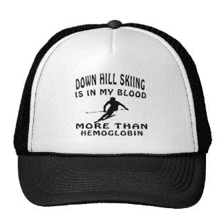 Abajo diseños del esquí de la colina gorras de camionero