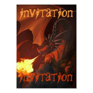 """Abajo dragón profundo - el arte por Nekoni invita Invitación 5"""" X 7"""""""
