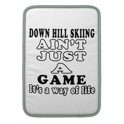 Abajo el esquí de la colina no es apenas un juego  funda para macbook air
