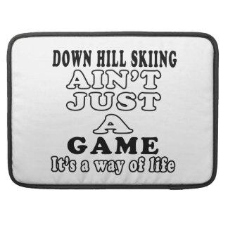 Abajo el esquí de la colina no es apenas un juego funda para macbook pro