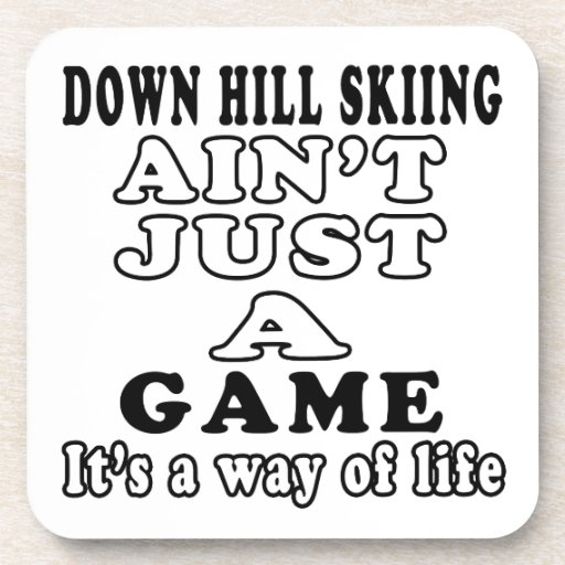 Abajo el esquí de la colina no es apenas un juego  posavasos de bebida