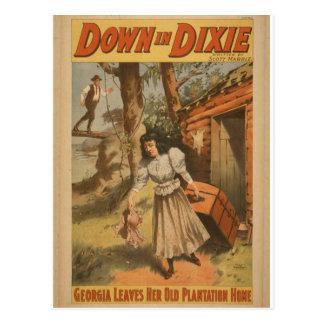 Abajo en Dixie Postales
