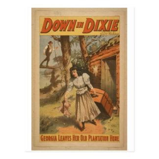 Abajo en Dixie Tarjeta Postal