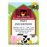 Abajo en el cumpleaños de la granja 2 invitación 12,7 x 17,8 cm