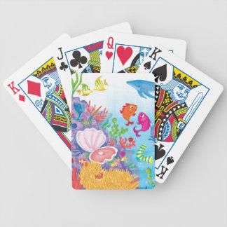 Abajo en el océano cartas de juego