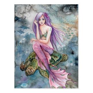 Abajo en la Atlántida - postal de la sirena