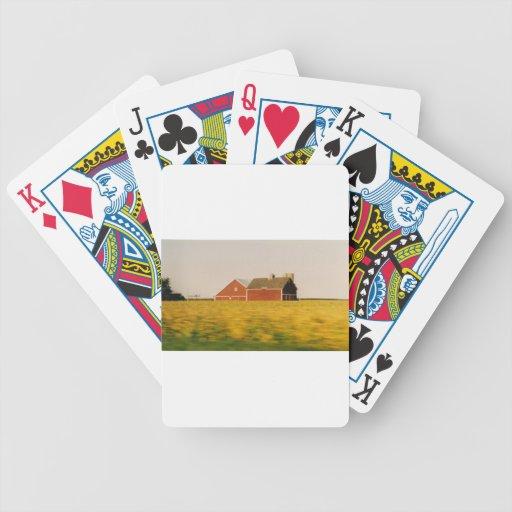 Abajo en la granja baraja cartas de poker