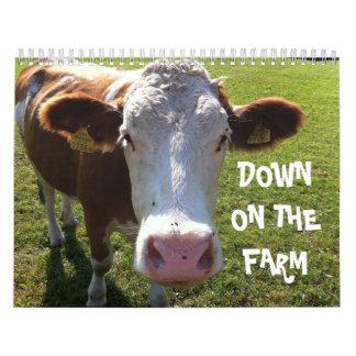 Abajo en la granja calendarios