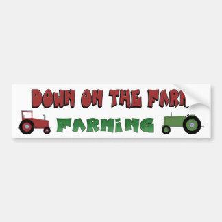Abajo en la pegatina para el parachoques de los tr pegatina para auto