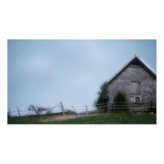 Abajo en la tarjeta de visita de la granja